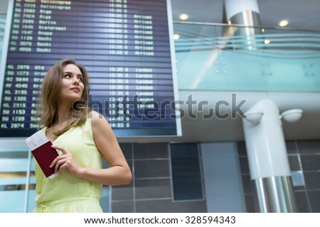 Young woman at the airport