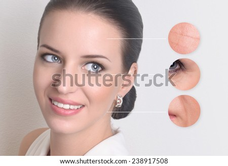 young woman .beauty concept skin aging. - stock photo
