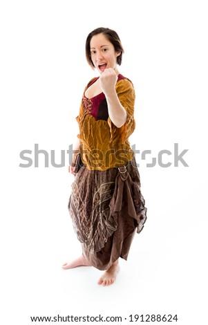 Young woman celebrating success - stock photo