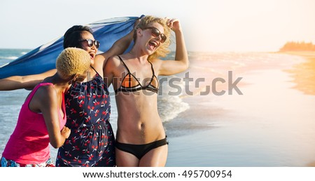 Young Woman Cheerful Happy Concept