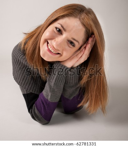 young woman close-up - stock photo