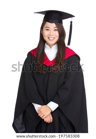 Young woman college graduation
