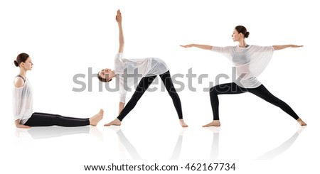 Young woman doing yoga exercise