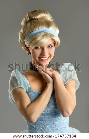 Young woman dressed in princess costume - stock photo