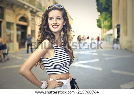 Young woman enjoying herself on vacation