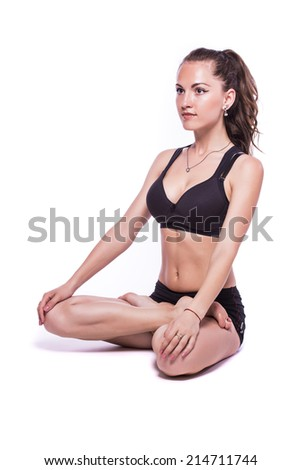 Young woman exercise yoga pose