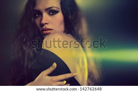 Young woman fashion sexy portrait. - stock photo