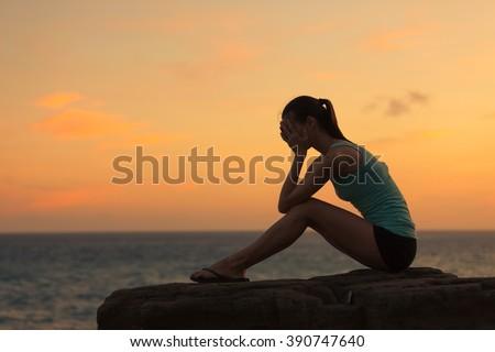Young woman feeling sad.  - stock photo
