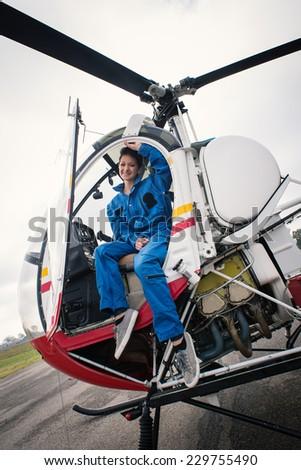 Pilot Giving Thumbsup His North American Stock Photo