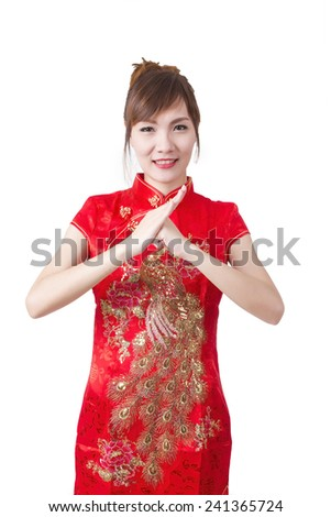 Young woman in Chinese dress