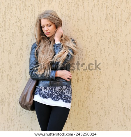 Young woman in depression - stock photo