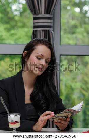 Young woman in jacket - stock photo