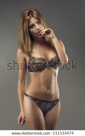 Young woman in sexy lingerie