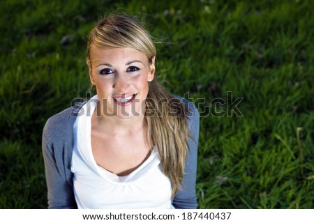 young woman in the outdoor party night
