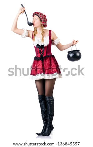 Young woman in traditional german costume