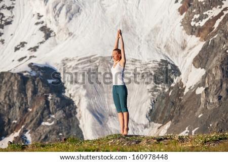 mountain pose yoga stock images royaltyfree images