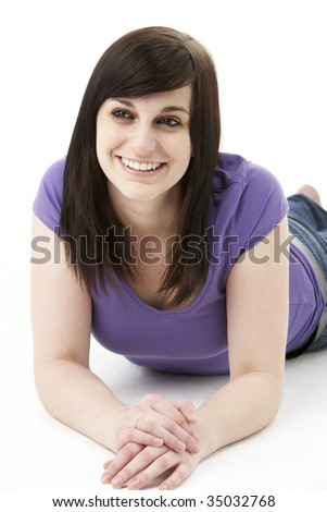 Young Woman Laying On Stomach