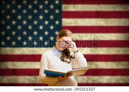Young woman learning English