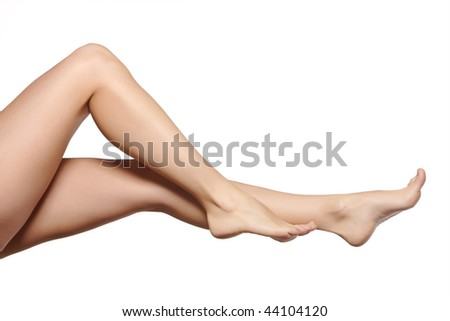 young woman legs - stock photo