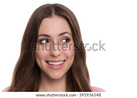 Young woman looking - stock photo