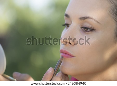 Young woman make up