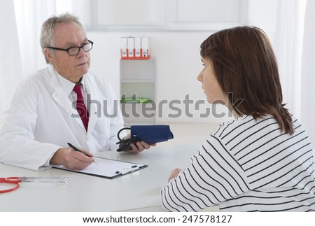 young woman medical consultation