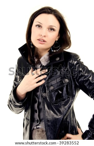 Young woman: nightlife style cute isolated