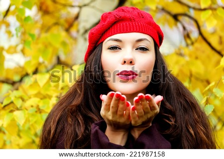 Young woman posing outdoors  - stock photo