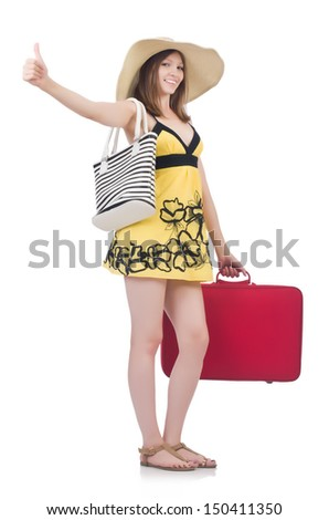 Young woman preparing for vacation
