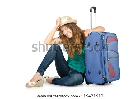 Young woman ready for summer vacation - stock photo
