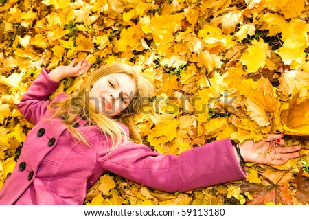 young woman resting in park