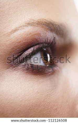 Young woman's eye