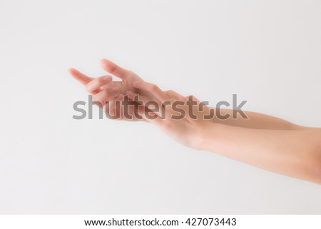 Young woman's hand