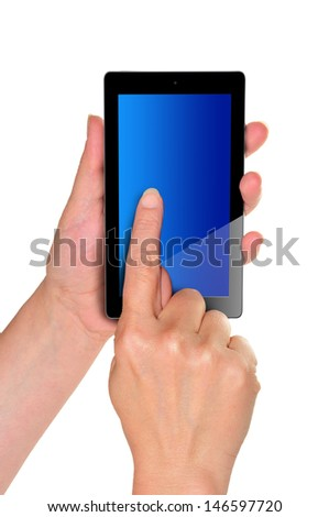young woman's hands, holding a Smartphone