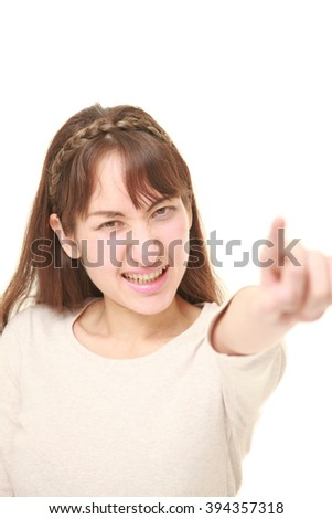 young woman scolding  - stock photo
