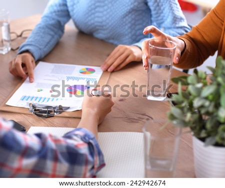 Young woman sitting  - stock photo