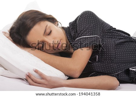 young woman sleep - stock photo