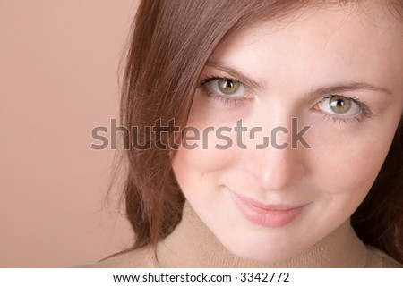 Young woman smiling - portrait isolated on white