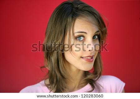 Young woman unsure of herself - stock photo
