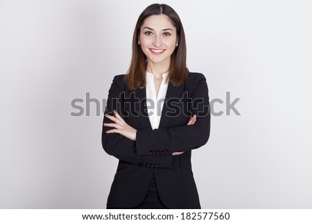young woman with active expressions