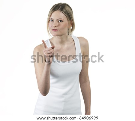 young woman with attitude scolded