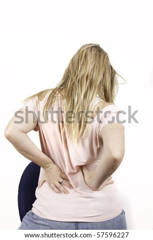 young woman with background - stock photo