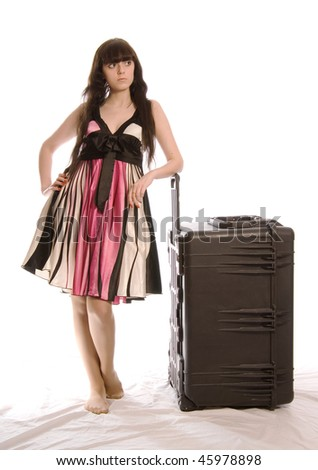 Young Woman with Big Case