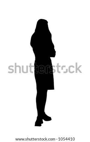 young woman with clipping path