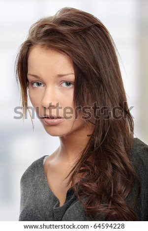 Young woman with depression - stock photo