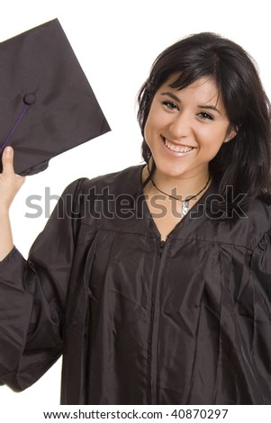 Young woman with final degree diploma