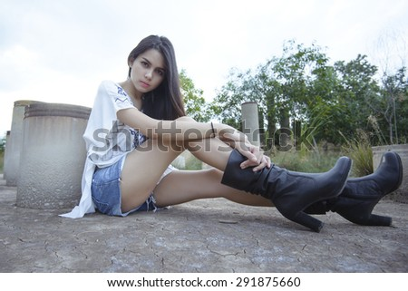 Young Woman With Hipster Fashion