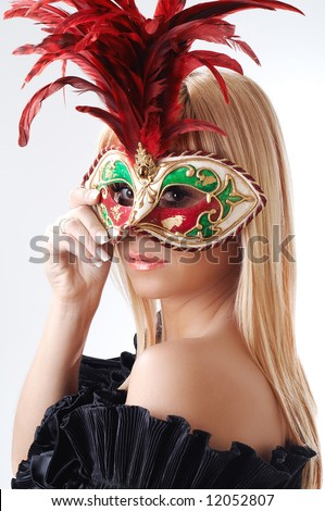 Young woman with mask