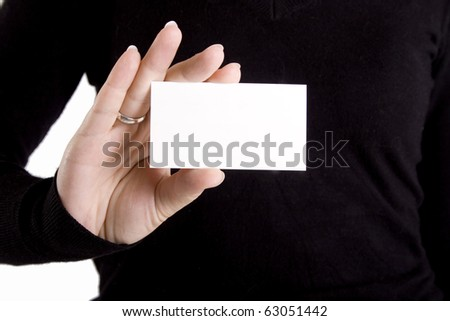 Young woman with white paper