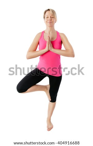young woman working yoga exercise